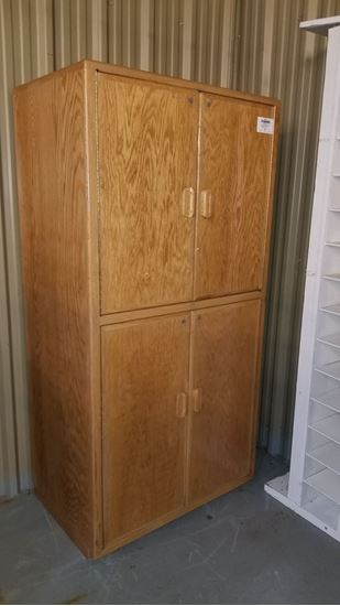 Picture of OAK STORAGE CABINET